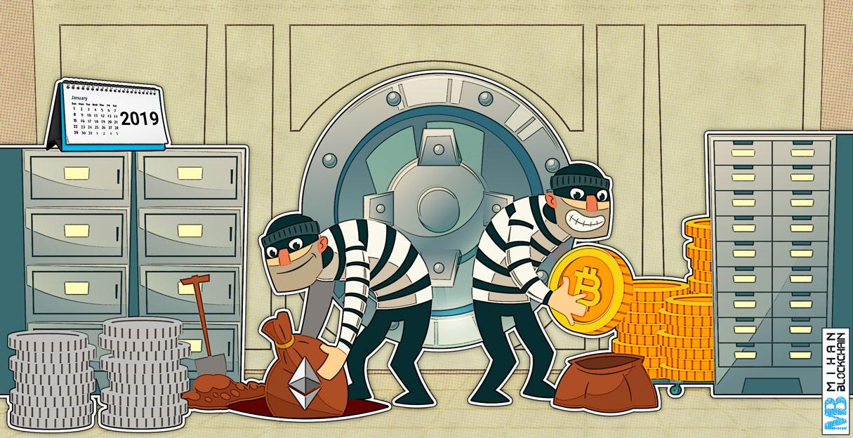دزدی ها و کلاهبرداری های ارز دیجیتال