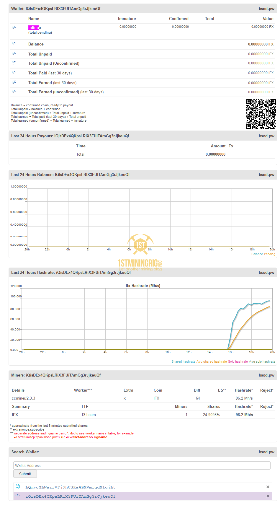 BlackMiner-F1-FPGA-Lyra2z-Infinex-Pool-Mining
