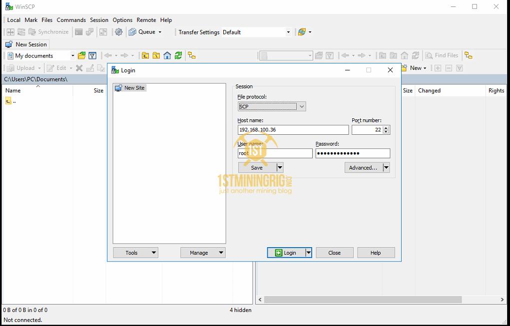 WinSCP-BlackMiner-F1-Connection