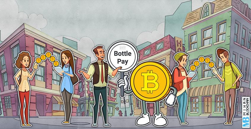 ارسال و دریافت بیت کوین در شبکه های اجتماعی به وسیله باتلپی (Bottle Pay)