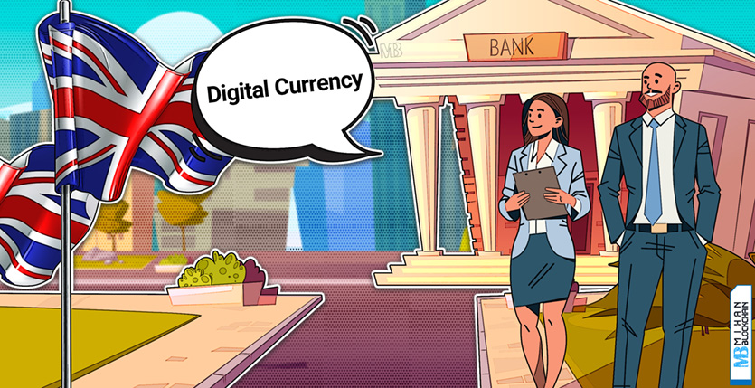 Bank of England governor says the U.K. central bank is weighing a digital currency بانک مرکزی (CBDC) انگلستان در حال بررسی عرضه ارز دیجیتال خود است