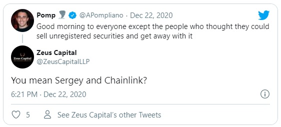 زئوس کپیتال و پامپ توییت