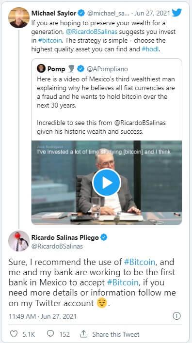 ریکاردو سالیانز پلیگو سومین فرد ثروتمند مکزیک بیت کوین را به طلا ترجیح میدهد